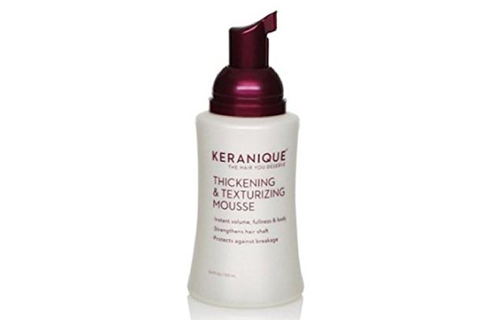 8. Keranique Thickening & Texturizing Mousse