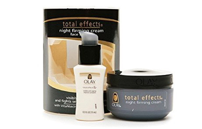 8. Olay Total Effects Night Firming Cream For Neck