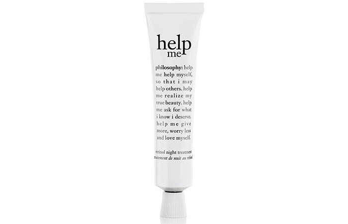 8. Philosophy Help Me Retinol Night Treatment