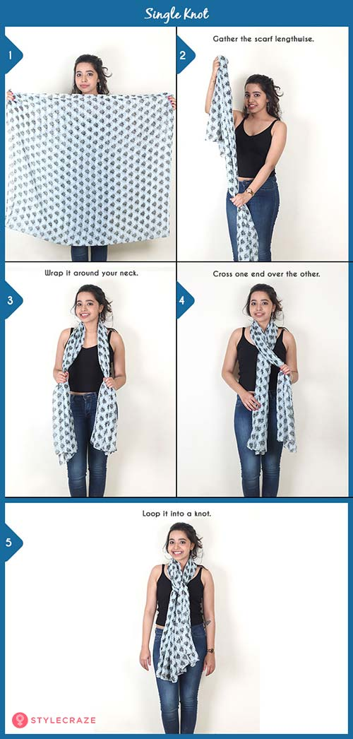 How to wear a blanket scarf - Single Knot