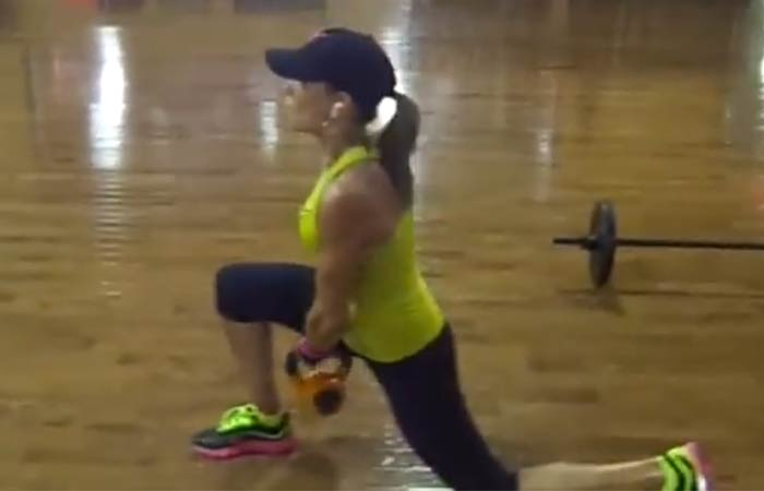 Fat Burning HIIT Workouts - Walking Lunges With Kettlebell Pass Under