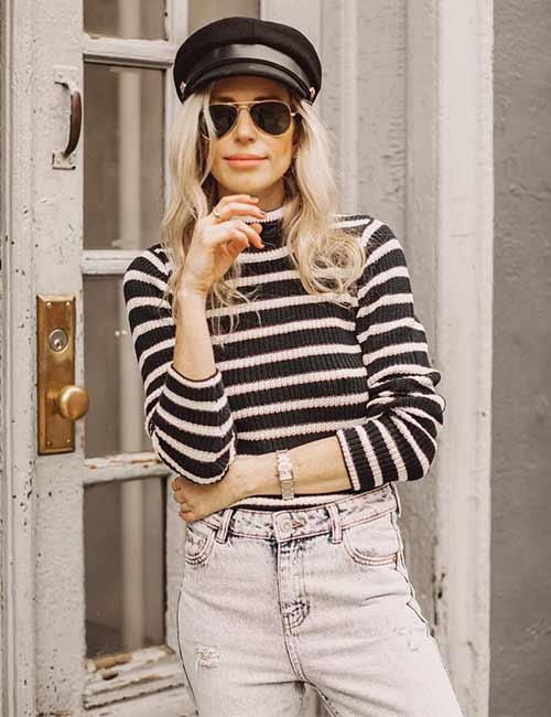 High Waisted Jeans - With A Turtle Neck Sweater Or Top