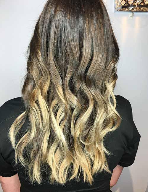 9. Gold Melt On Dark Brown Hair