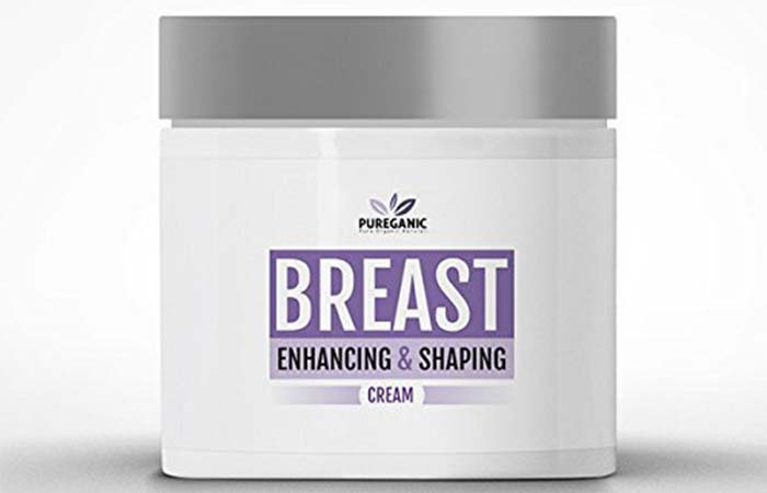 9. Pureganic All Natural Breast Lifting And Firming Cream