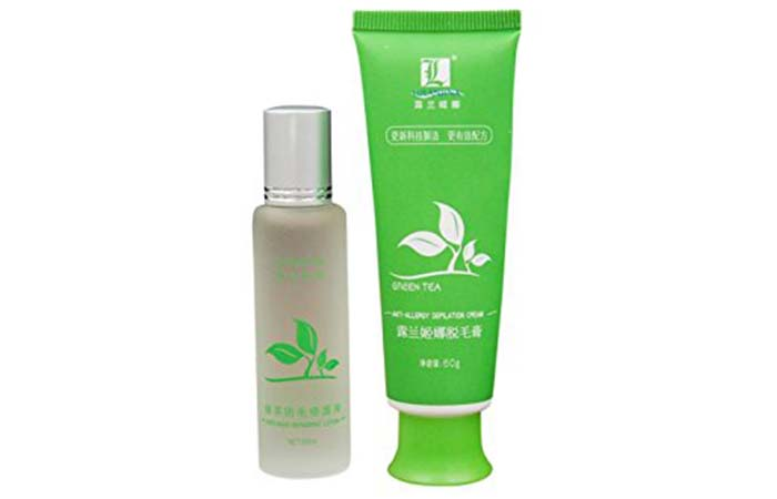 9. Spdoo Green Tea Fast Hair Removal Cream