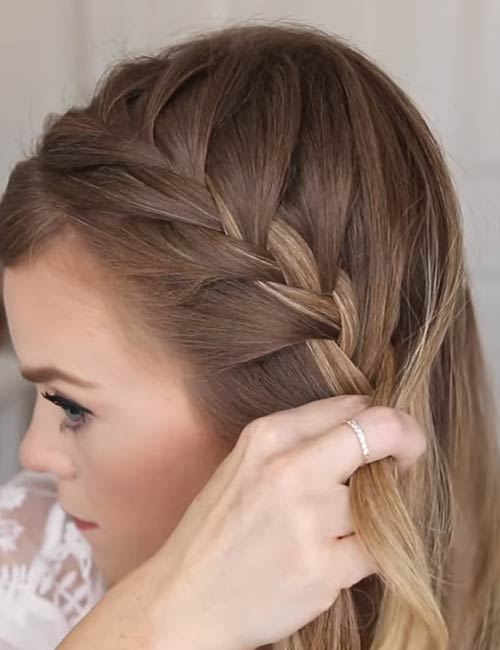 9. Start adding hair from the back of your head