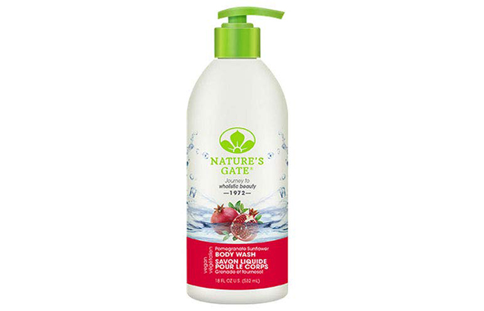 Nature's Gate Pomegranate Sunflower Body Wash - Organic Body Washes