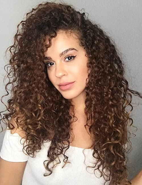 Type 3C Curly Hair