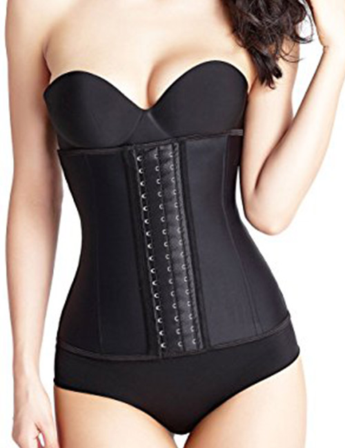 10. Atbuty Waist Trainer Corset Women's Latex Workout Waist Cinche