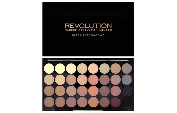 Best Selling Matte Eyeshadow Palettes - 10. Makeup Revolution Flawless Matte Ultra 32-Eyeshadow Palette