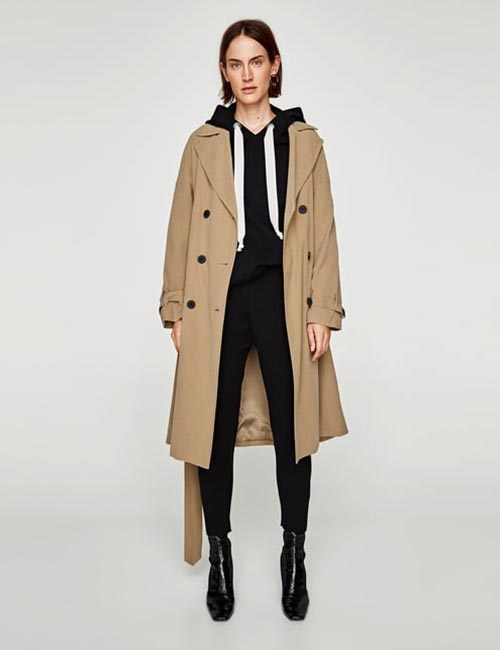 12. Joggers With An Oversized Trenchcoat