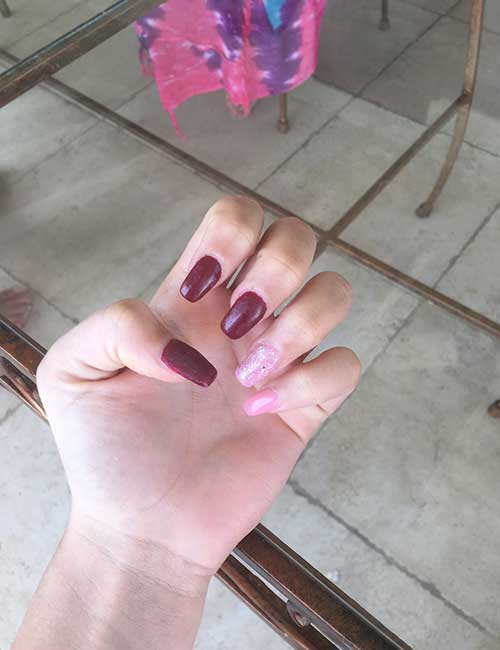 13. The struggle of keeping your nails out of harm's reach.
