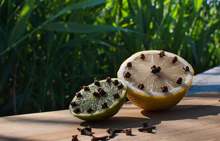 Homemade Mosquito Repellent - Cloves With Lime