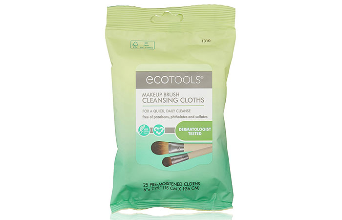 Best Makeup Brush Cleaners - 15. EcoTools Makeup Brush Cleansing Cloths