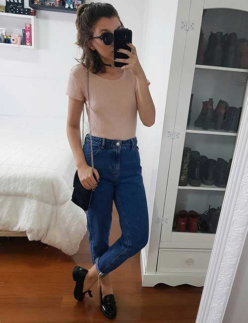 Style Your Mom Jeans - With A Pastel Colored Top