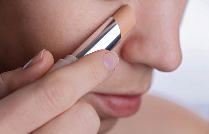 2. Conceal Dark Circles With Your Lipstick