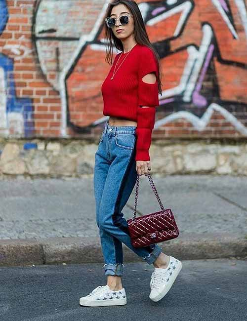651d45630a3e How To Style Your Mom Jeans – 27 Outfit Ideas