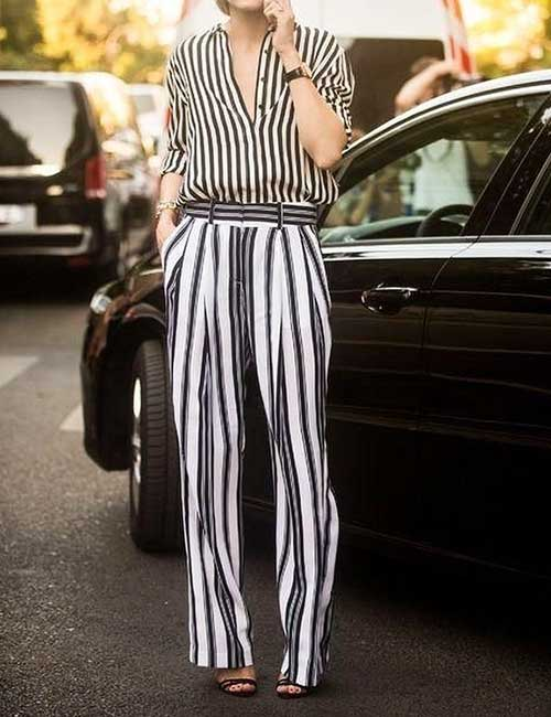 4. Pants With Stripes