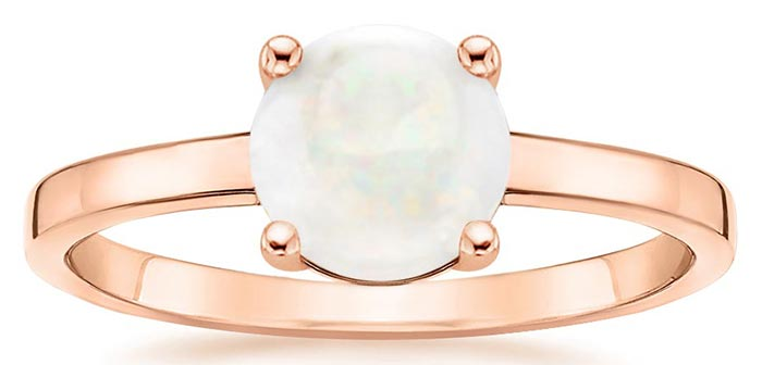 Unique Engagement Rings - Rose Gold Opal Cadence Ring