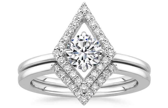 Unique Engagement Rings - Kite Shaped Engagement Ring