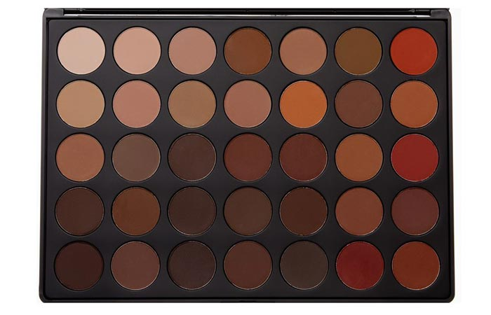5. Morphe 35oM – 35 –Color Matte Nature Glow Eyeshadow Palette