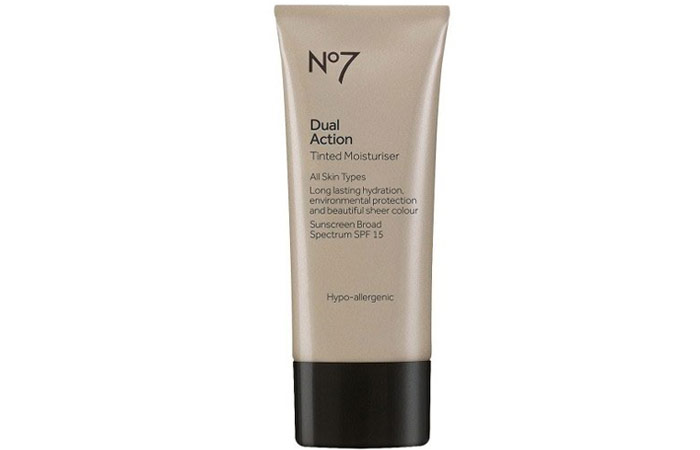 6. Boots No7 Dual Action Tinted Moisturizer