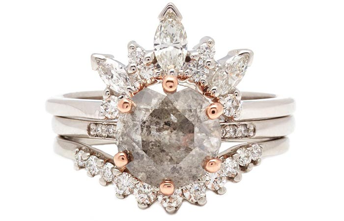 Unique Engagement Rings - Tiara Shaped Engagement Ring