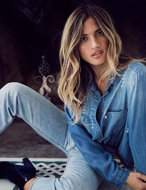 Denim Shirt Outfit Ideas - With Bootcut Jeans And Ankle Boots