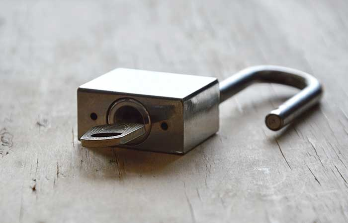 8. The Hole In Your Padlock