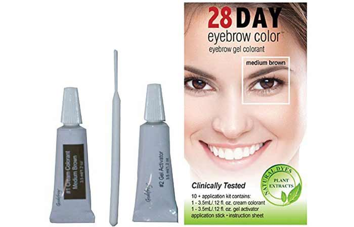 9. 28 Day Color Eyebrow Gel Colorant