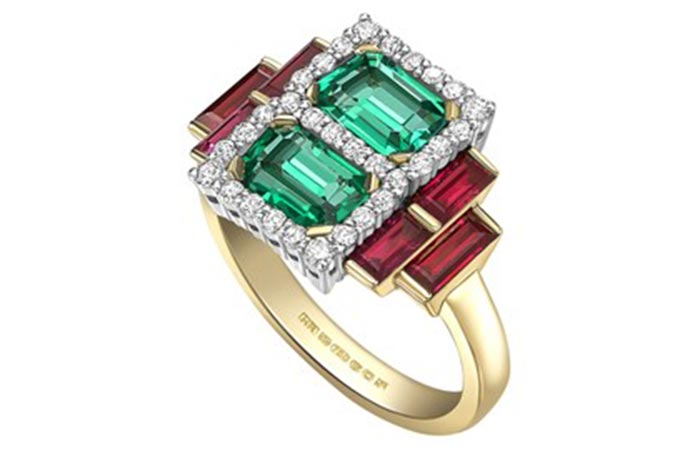 Unique Engagement Rings - A Multi-Colored Engagement Ring
