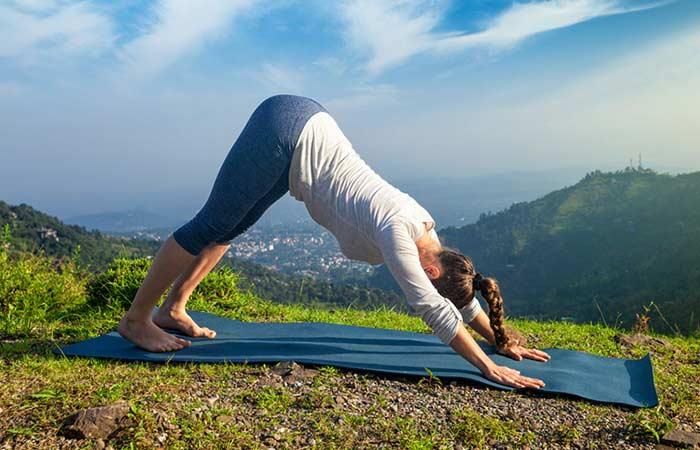 how to get periods faster - Adho Mukha Svanasana