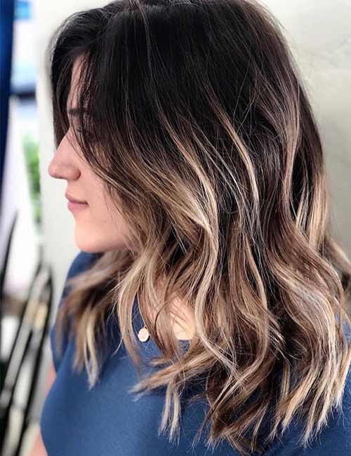 Balayage Vs Highlights - Blonde On Brown Balayage