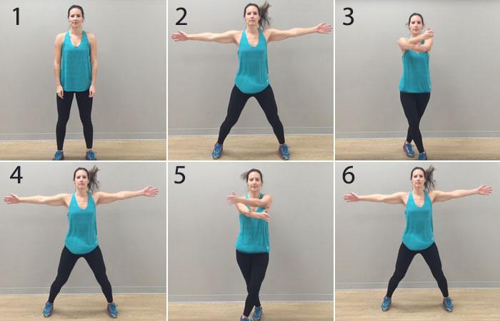 Übungen am inneren Oberschenkel - Criss Cross Power Jacks