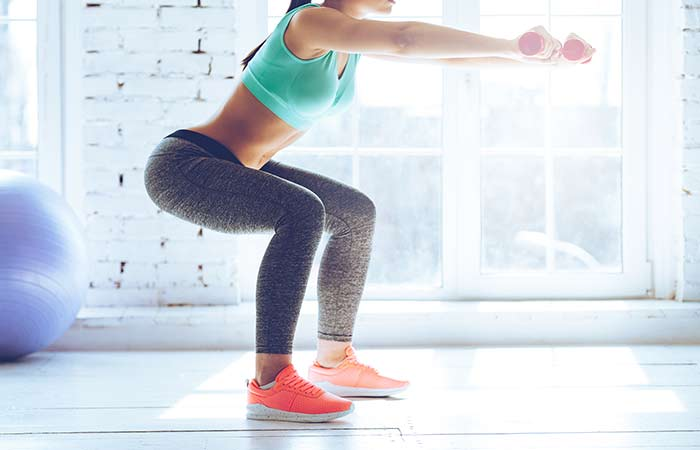 how to get periods faster - Squats