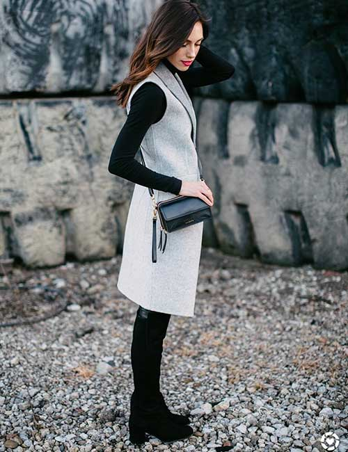 7bf8ffee64 Outfit Ideas For Short Girls - Black T-Shirt Dress With A Kimono Or Jacket