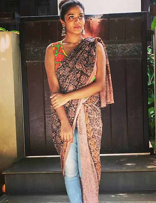 Dupatta - Saree Style