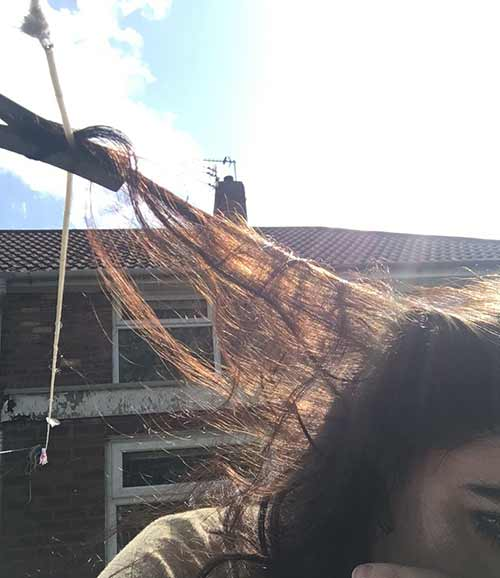 10. The rare ability of your hair to get stuck anywhere.