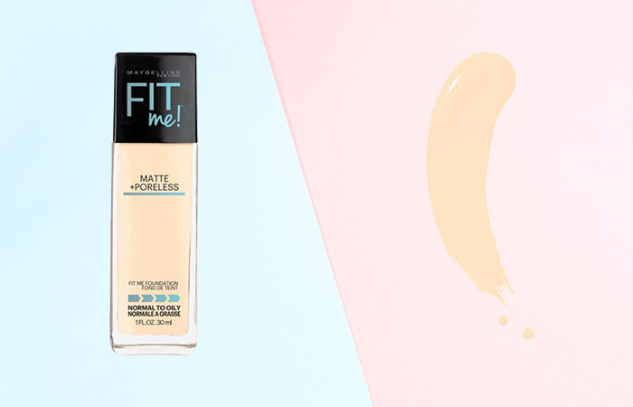 Maybelline Fit Me Matte and Poreless Foundation Shades - 110 Porcelain