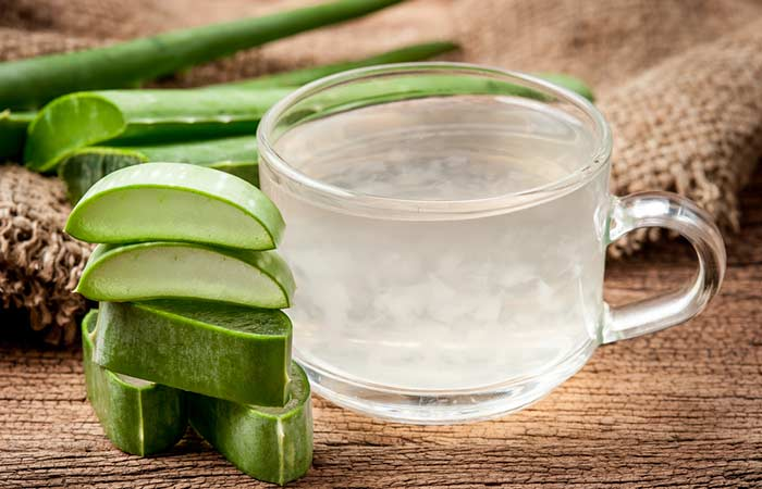 Home Remedies For Period Cramps - Aloe Vera Juice
