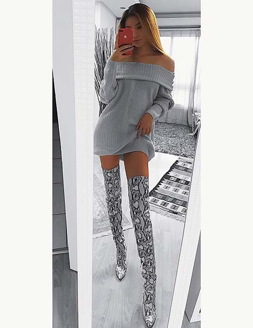 Style Knee High Boots - Go Couture
