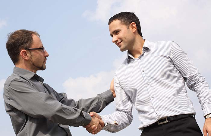 12. Touching When Shaking Hands