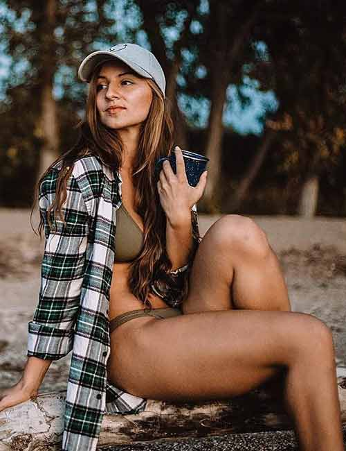 How To Wear A Flannel - Bikini Cover Up
