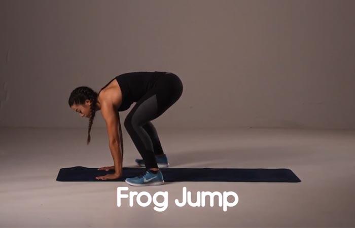 Übungen für den inneren Oberschenkel - Froschsprung