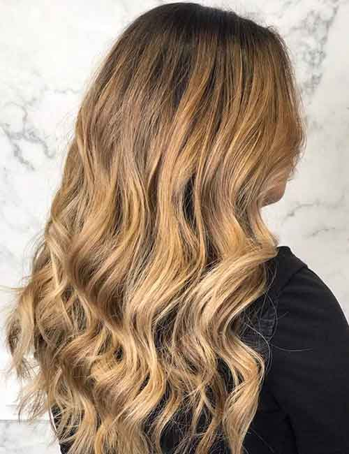 Blonde Balayage - Strawberry Blonde Balayage