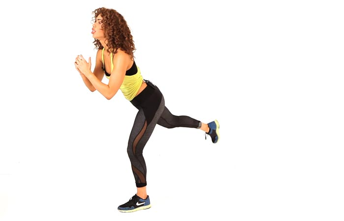 Inner Thigh Exercises- Lunge And Kick Back