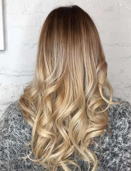 Blonde Balayage - Color Melted Blonde Balayage