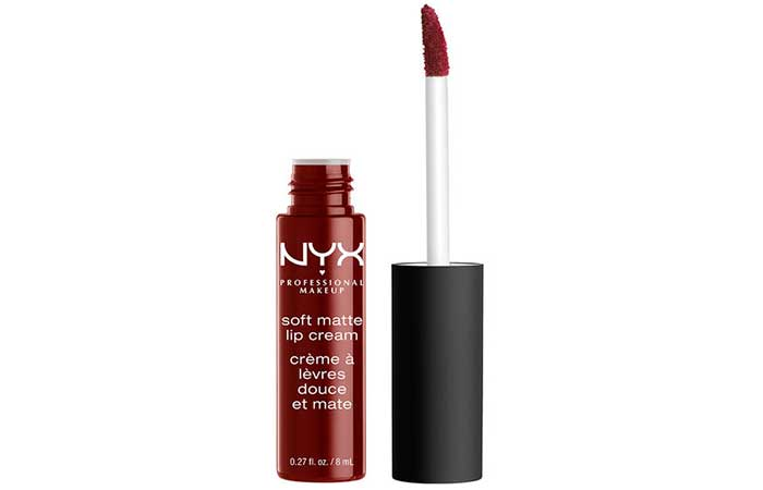 17. NYX Soft Matte Lip Cream Madrid Review
