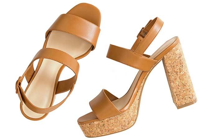 18. Cork High Heels