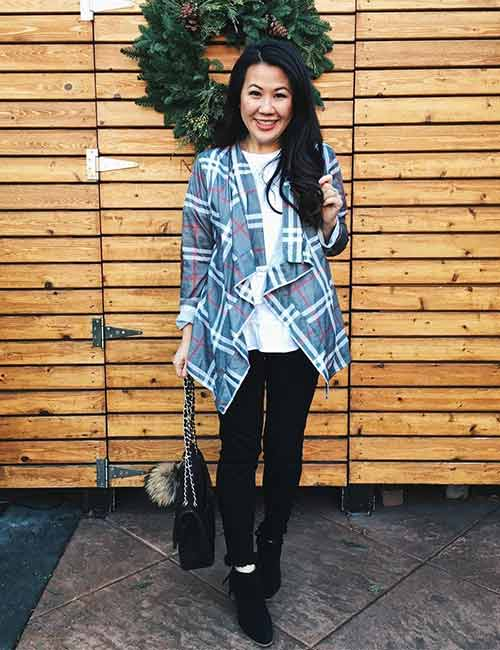 How To Wear A Flannel - Plaid Cardigan